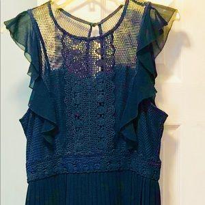 Midi Length Navy Blue ModCloth Dress